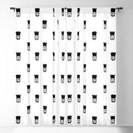 Sketchy Emojis Print Pattern Blackout Curtain