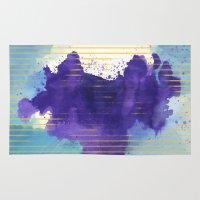 rorschach Area & Throw Rugs featuring Rorschach by Sonia Garcia