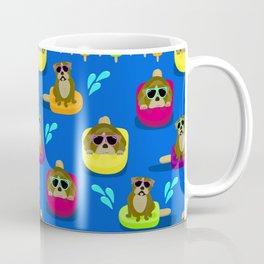 Bulldog Popsicle Pool Party Coffee Mug