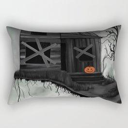 Haunted House and Jolly Pumpkin Rectangular Pillow