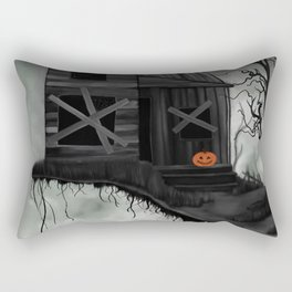 Haunted House and Jolly Pumpkin Rectangular Pillow