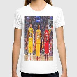 Lebron#James, Kobe#Bryant And Michael#Jordan Premium FRAMED Gallery Canvas & Poster T-shirt