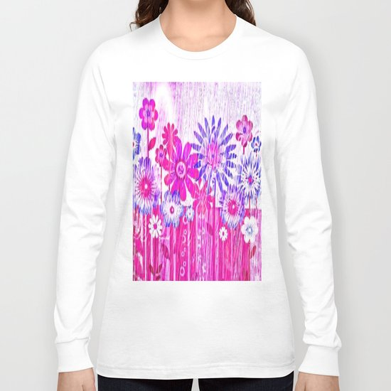 Blossoming Spring Flowers Long Sleeve T-shirt