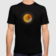 Minimalism / Geometric 1 Mens Fitted Tee LARGE Black
