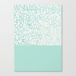 Abstract on Turquois Canvas Print