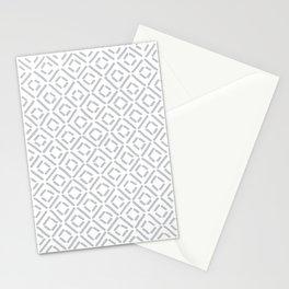 Light Grey Diamond Pattern Stationery Cards