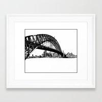 sydney Framed Art Prints featuring sydney by Jette Geis