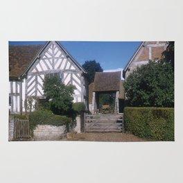 Mary Arden Home * 1950's * Barnyard * Stratford * England * Kodachrome * English Art Print Rug