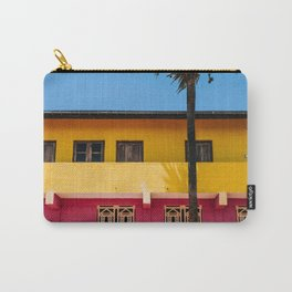 RED AND BROWN CONCRETE BUILDING NEAR TREE UNDER BLUE SKY Carry-All Pouch