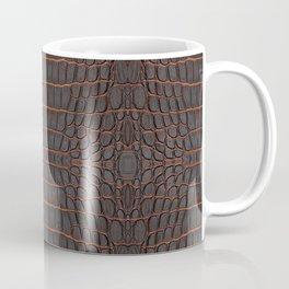 Chestnut Nile Crocodile Leather Print Coffee Mug