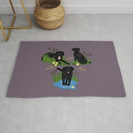 Collection of Black Labs  Rug
