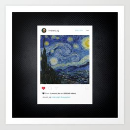 The Insta Night Art Print