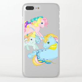 g1 my little pony rainbow Clear iPhone Case