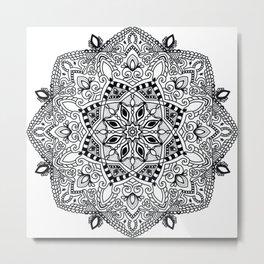 Project 290 | Black and White Mandala Metal Print