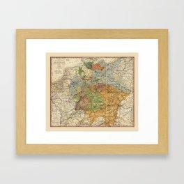 Map of Germany (1855) Framed Art Print