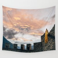 rapunzel Wall Tapestries featuring Rapunzel by Laura Killian
