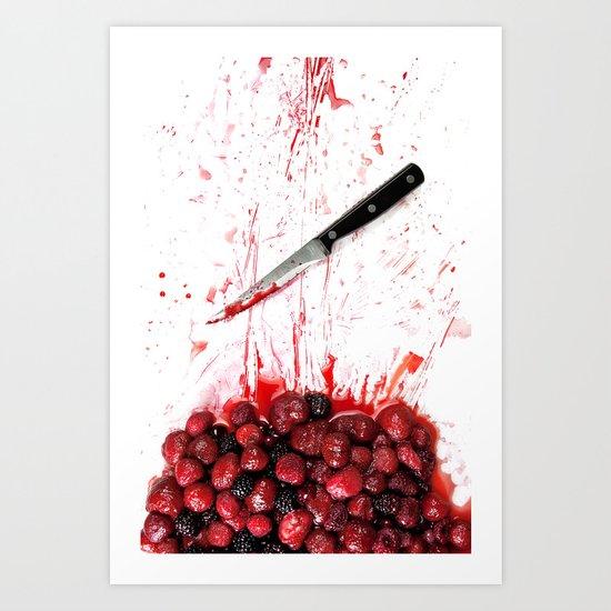 Healthy bloody Eating Art Print