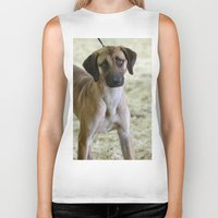 the hound Biker Tanks featuring Hound Pup by IowaShots