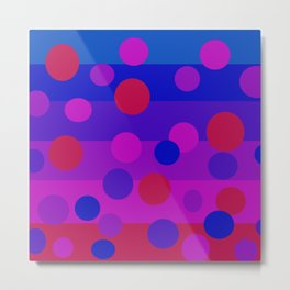 Sweet Berry Pie with Floating Circles Metal Print