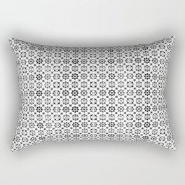 Oriental Style Mosaic Pattern  - Black and White Rectangular Pillow
