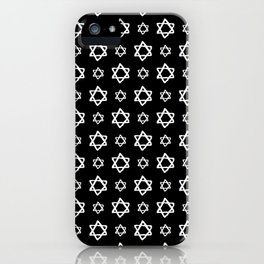 star of david 40 - black and white iPhone Case