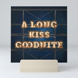 A Long Kiss Goodnite - Wall-Art for Hotel-Rooms Mini Art Print