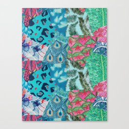 Tropical Patchwork Print Canvas Print