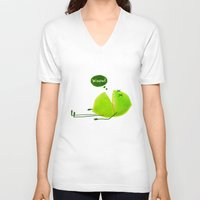 lime V-neck T-shirts featuring Lime by Lime