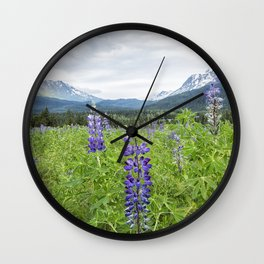 Lupin and the Beauty of Alaska Wall Clock
