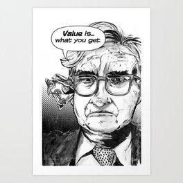 Warren Buffet Art Print