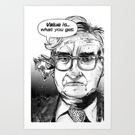 Warren Buffet Art Print