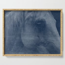 Abstract Horse No. 2 | Blue Serving Tray