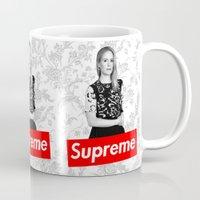supreme Mugs featuring The New Supreme by dan ron eli