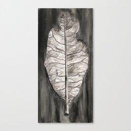 Semicolon Watercolor Leaf Canvas Print