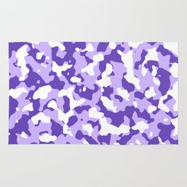 Camouflage Purple Rug