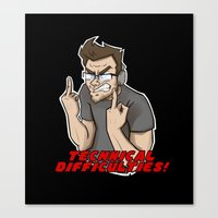 markiplier Canvas Prints featuring Markiplier - Technical Difficulties by tru Creative Designs