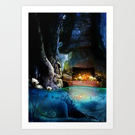 Treasure Cave Art Print