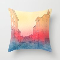 stockholm Throw Pillows featuring Stockholm by Jonas Ericson