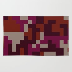 Red Pixel Camouflage pattern Rug