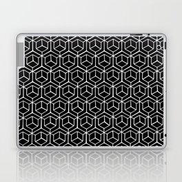 Hand Drawn Hypercube Black Laptop & iPad Skin