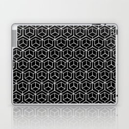 Hand Drawn Hypercube Black Laptop & iPad Skin