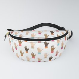 Seamless pattern with girl hands Fanny Pack