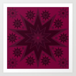 Mulled Berry Wine Star Flower Art Print