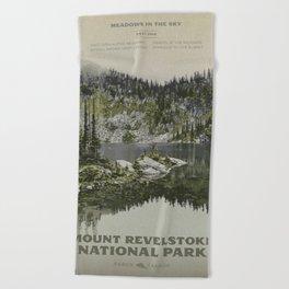 Mount Revelstoke National Park Beach Towel
