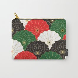 Japanese Chrysanthemum Carry-All Pouch