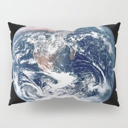 Apollo 17 - Iconic Blue Marble Photograph Pillow Sham