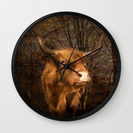 Highland Toffee Coo Wall Clock