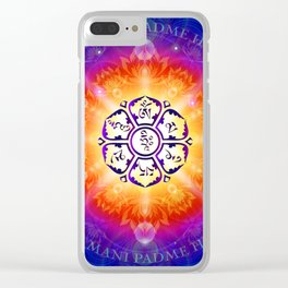 """Om Mani Padme Hum"" - Embodiment of Compassion Clear iPhone Case"