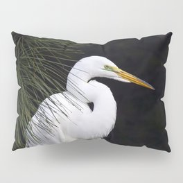 Great White Egret Pillow Sham
