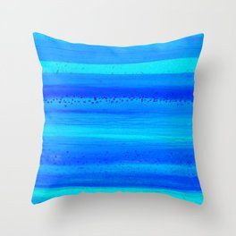 Blue Sky Blue Waters Throw Pillow